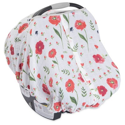 Little Unicorn Car Summer Poppy Seat Canopy