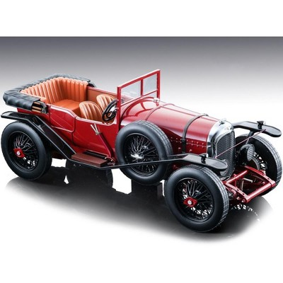 """1924 Bentley 3L Convertible Dark Red Street Ver. """"Mythos Series"""" Limited Edition to 70 pieces 1/18 Model Car by Tecnomodel"""