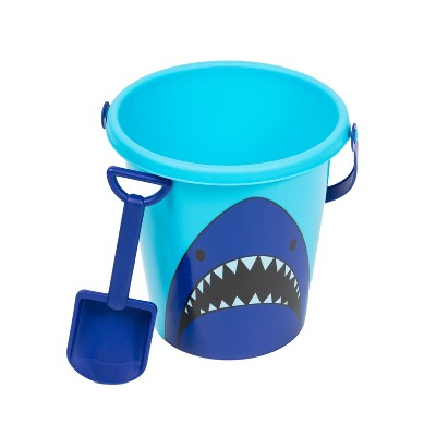 Antsy Pants 9  Shark Bucket with Shovel