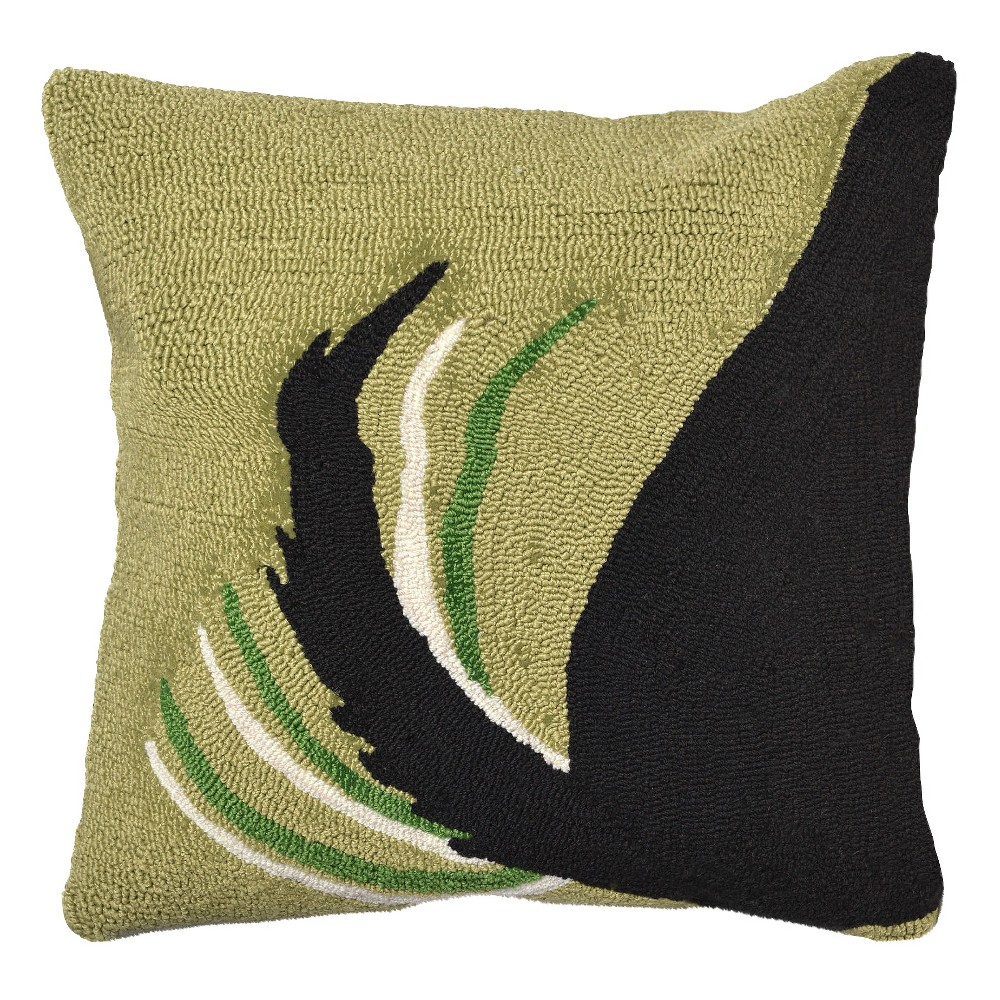 """Image of """"Light Olive Woof In/Out Throw Pillow (18""""""""x18"""""""") - Liora Manne, Blue"""""""