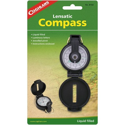 Coghlan's Lensatic Compass with Case, Liquid Filled, Camping Survival Emergency