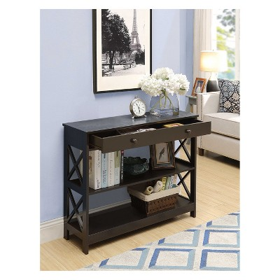 Oxford 1 Drawer Console Table Espresso - Breighton Home : Target