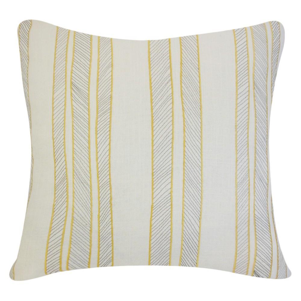 Stripe Throw Pillow Yellow (20