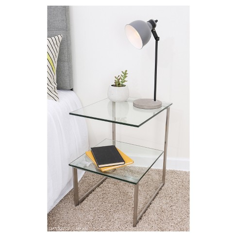 Glass 6G Side Table Clear - LumiSource - image 1 of 3