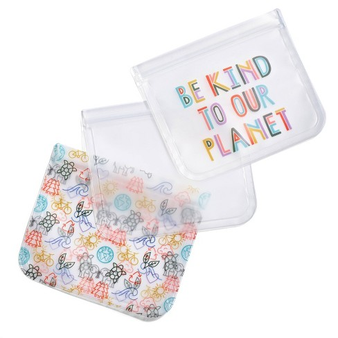 Fit & Fresh 3pk Kids' Reusable Food Storage Bag - image 1 of 4