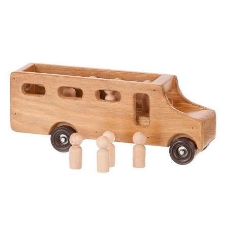 Remley Wooden Toy School Bus with Little People CPSIA Kid Safe Finish - image 1 of 1
