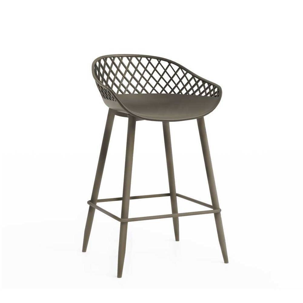 "Image of ""Set of 2 26"""" Kurv Counter Stool Warm Gray - Jamesdar"""