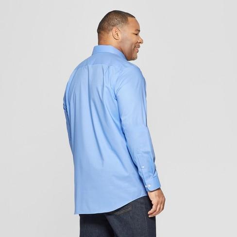 ff02a0828 Men s Big   Tall Standard Fit Long Sleeve Button-Down Shirt - Goodfellow    Co™ Bicycle Blue   Target