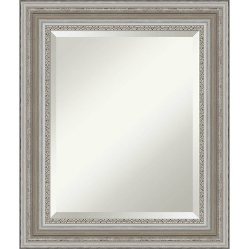 22 X 26 Parlor Framed Bathroom Vanity Wall Mirror Silver Amanti Art Target