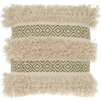 Mina Victory Life Styles Diamond Stripe Texture Throw Pillow