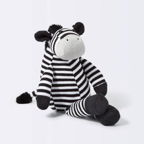 Plush Zebra - Cloud Island™ Black/White - image 1 of 3