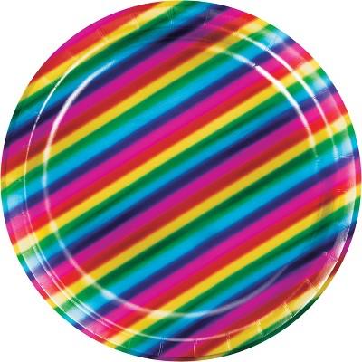 24ct Rainbow Foil Dessert Plates