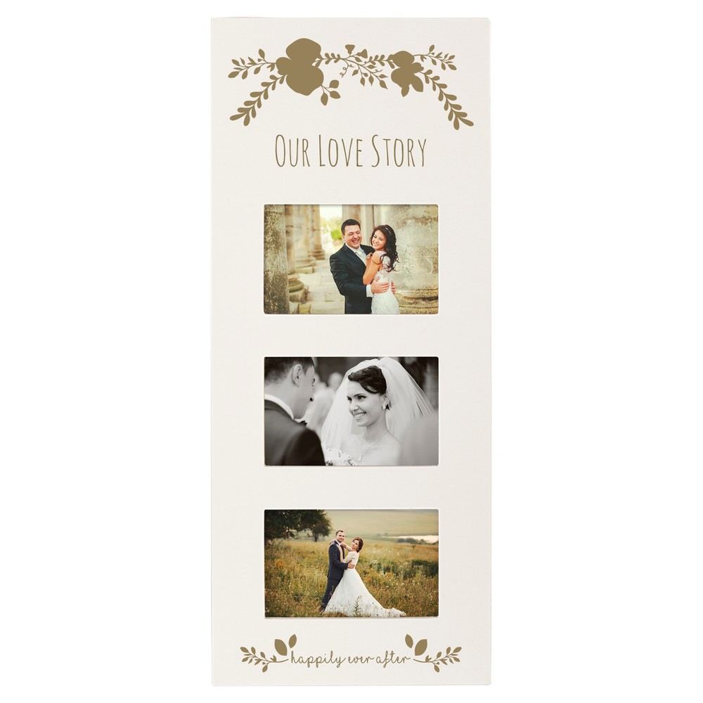 'Our Love' Picture Frame White/Gold