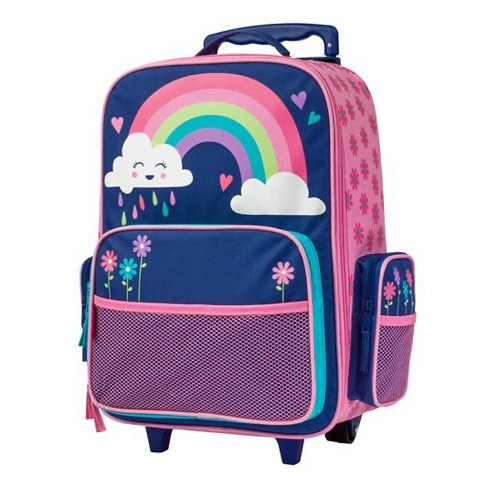 Stephen Joseph Fun Kids Themed Classic Rolling Luggage Polyester Carry On Suitcase with Multiple Pockets and Extendable Handle, Rainbow - image 1 of 3