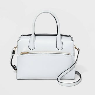 Magnetic Closure Satchel Handbag - A New Day™ Drizzle Gray