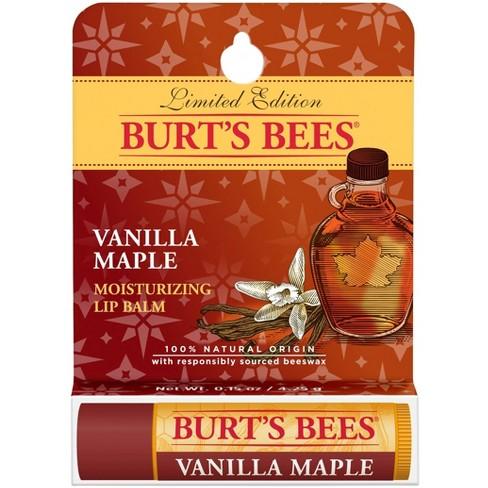 Burt's Bees Moisturizing Lip Balm - Vanilla Maple - 0.15oz - image 1 of 4