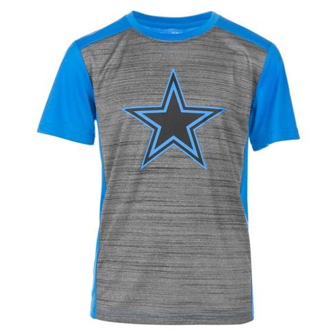 80d93280 Dallas Cowboys Boys' Quincy Charcoal/ Electric Blue Performance T ...