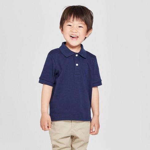 8f73ae348 Toddler Boys' Short Sleeve Interlock Uniform Polo Shirt - Cat & Jack ...