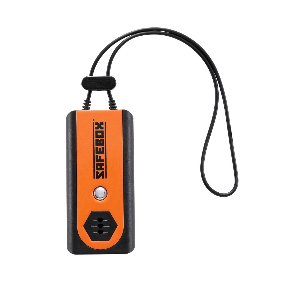 Lewis N Clark Safebox Door And Personal Travel Alarm And Flashlight Black