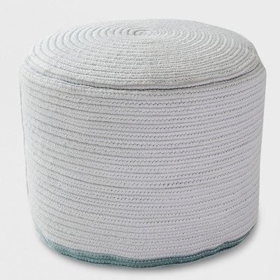 Outdoor Pouf Gray Rope Smoke Green - Project 62™