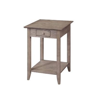 American Heritage End Table with Drawer/Shelf Driftwood - Breighton Home