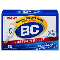 Target.com deals on BC Aspirin Fast Pain Relief Powder Packets Aspirin 50ct