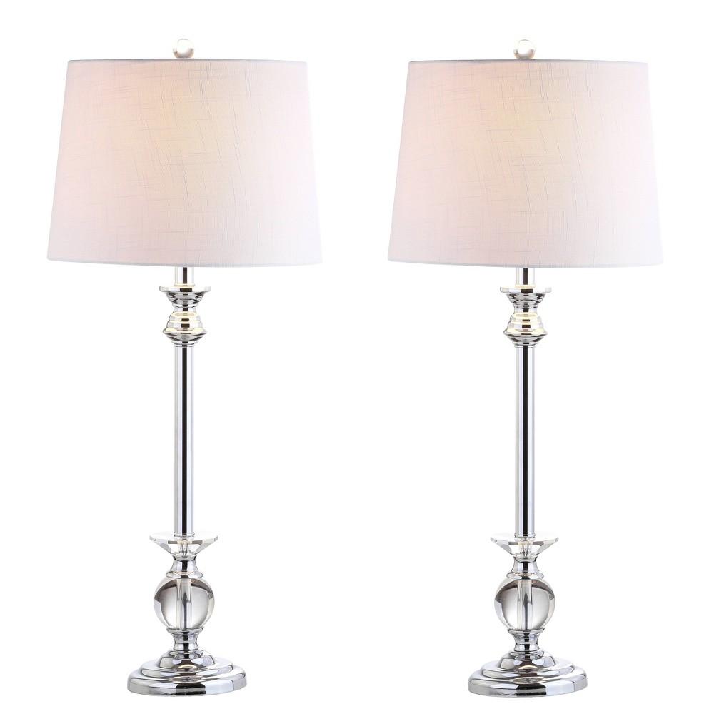 33 34 Set Of 2 Elizabeth Crystal Table Lamp Includes Led Light Bulb Clear Jonathan Y