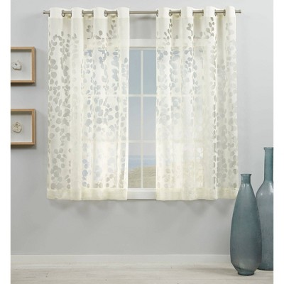 Set of 2 Wilshire Sheer Window Curtain Panel - Exclusive Home