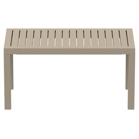Ocean Square Resin Patio Side Table In Dove Gray Compamia