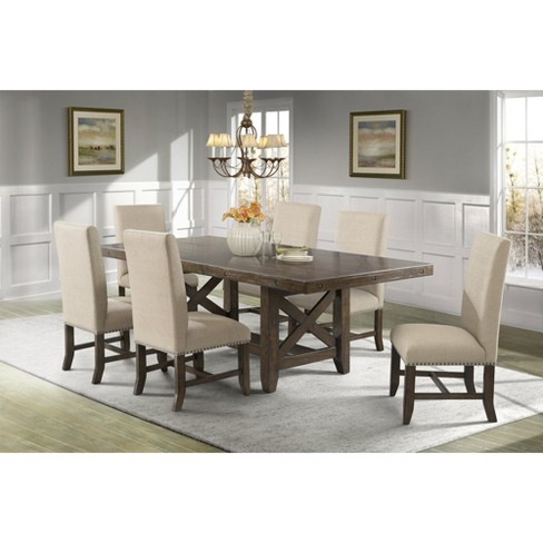 Francis 7pc Dining Set Table And 6