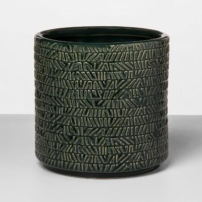 5.9  x 5.8  Stoneware Textured Planter Green - Opalhouse™