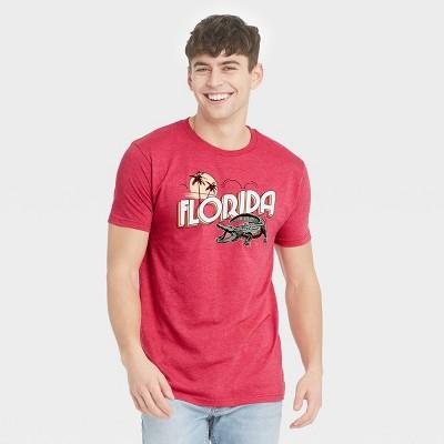 Men's Short Sleeve Florida Gator Graphic T-Shirt - Awake Red