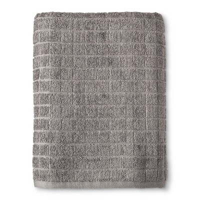 Grid Texture Bath Towel Pigeon Gray - Room Essentials™