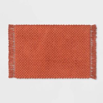Fringe Bath Rug Coral - Threshold™