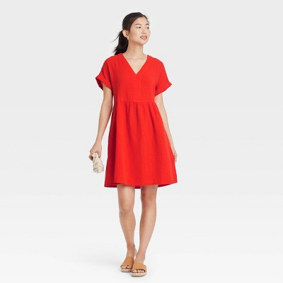 Women's Short Sleeve Shirtdress - Universal Thread™
