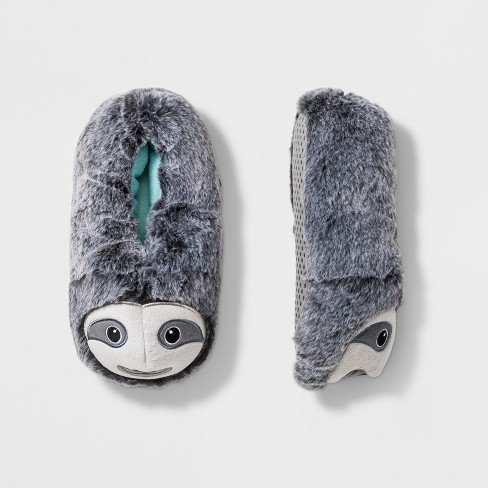 696db86a617 Boys  Sloth Bootie Slippers - Cat   Jack™ Gray   Target