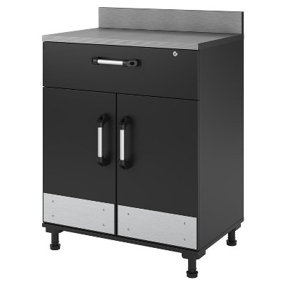 Chief 2 Door and 1 Drawer Base Cabinet - Charcoal Stipple - Room & Joy