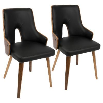 Stella Mid Century Modern Dining Chair   Black (Set Of 2) Lumisource