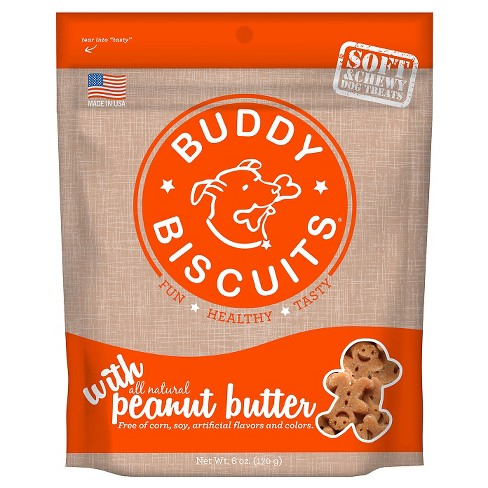Buddy Biscuits 6oz Peanut Butter Soft & Chewy Treats - image 1 of 4