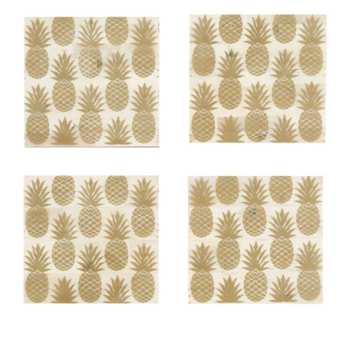 Set Of 4 Pineapple Coasters - Shiraleah - image 1 of 1