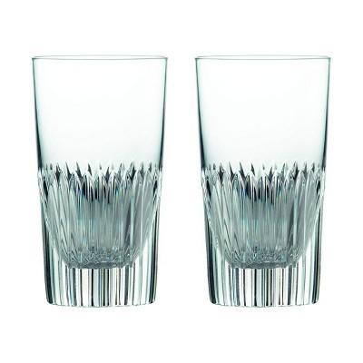 Royal Doulton 9.3oz Crystal 2pk Calla Hiball Glasses