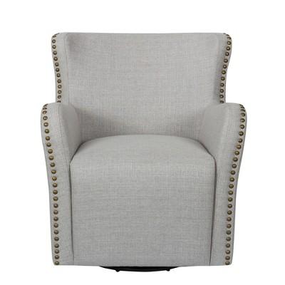 John Boyd Designs Harris Swivel Upholstered Chair