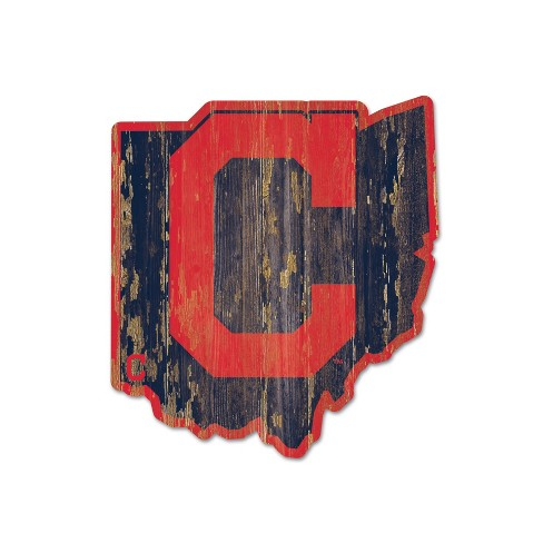 MLB Cleveland Indians Wood State Sign - image 1 of 1
