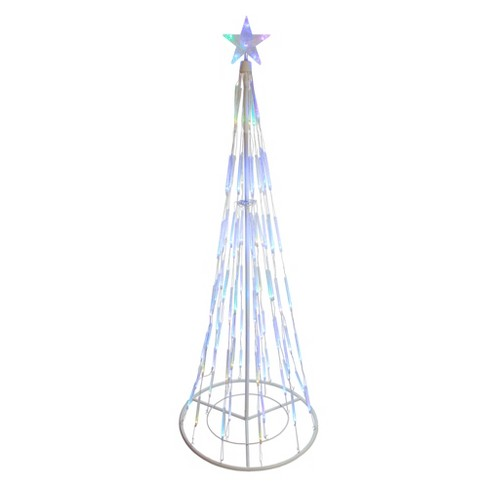 Northlight 6' Color Changing LED Bubble Light Cone Tree Outdoor Christmas  Decoration
