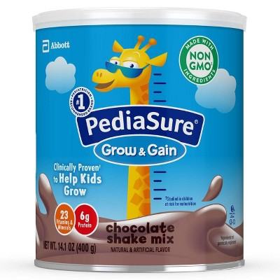 PediaSure Grow & Gain Non-GMO Shake Mix Chocolate Powder - 14.1oz
