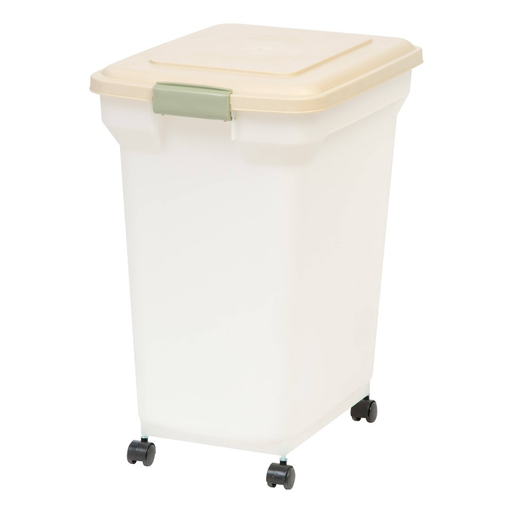 IRIS Airtight Pet Food Container - Almond/Pearl, Beige