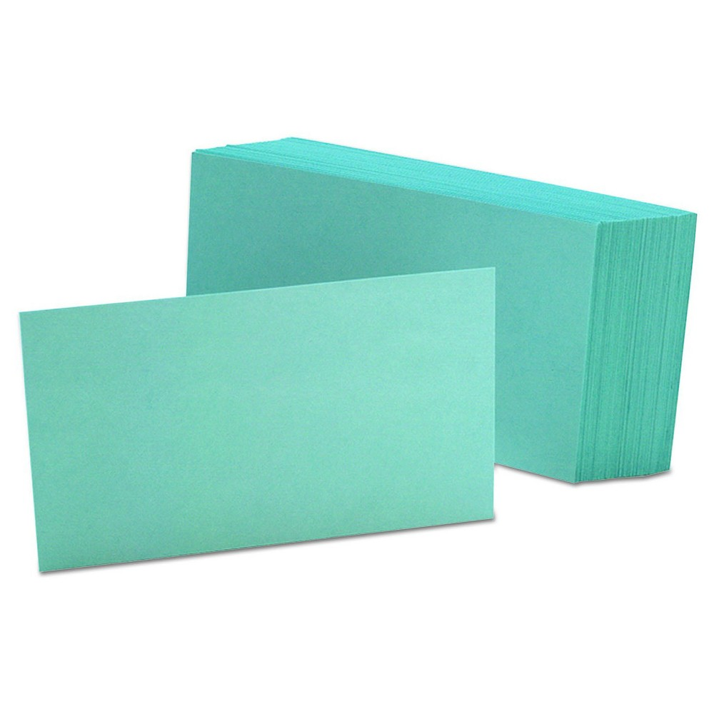 Oxford 100-ct Blank Index Cards - Light Blue (3