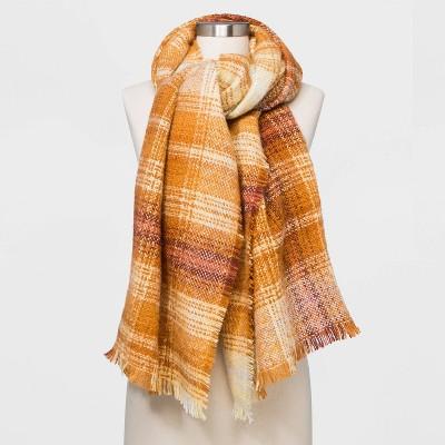 Women's Plaid Blanket Scarf - Universal Thread™