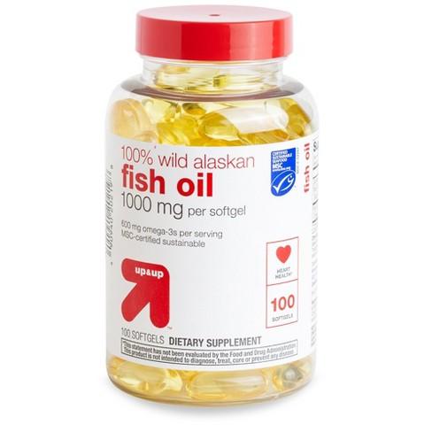 100% Wild Alaskan Fish Oil Dietary Supplement Softgels - 100ct - Up&Up™