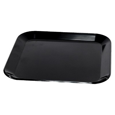 Rounded Square Melamine Dinner Plate 10.25   Black - Room Essentials™